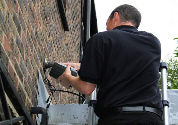 Wired CCTV fitting