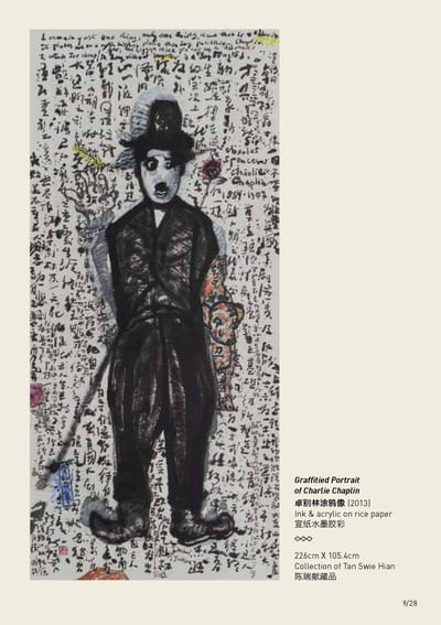 An image of the Graffitied Portrait of Charlie Chaplin.