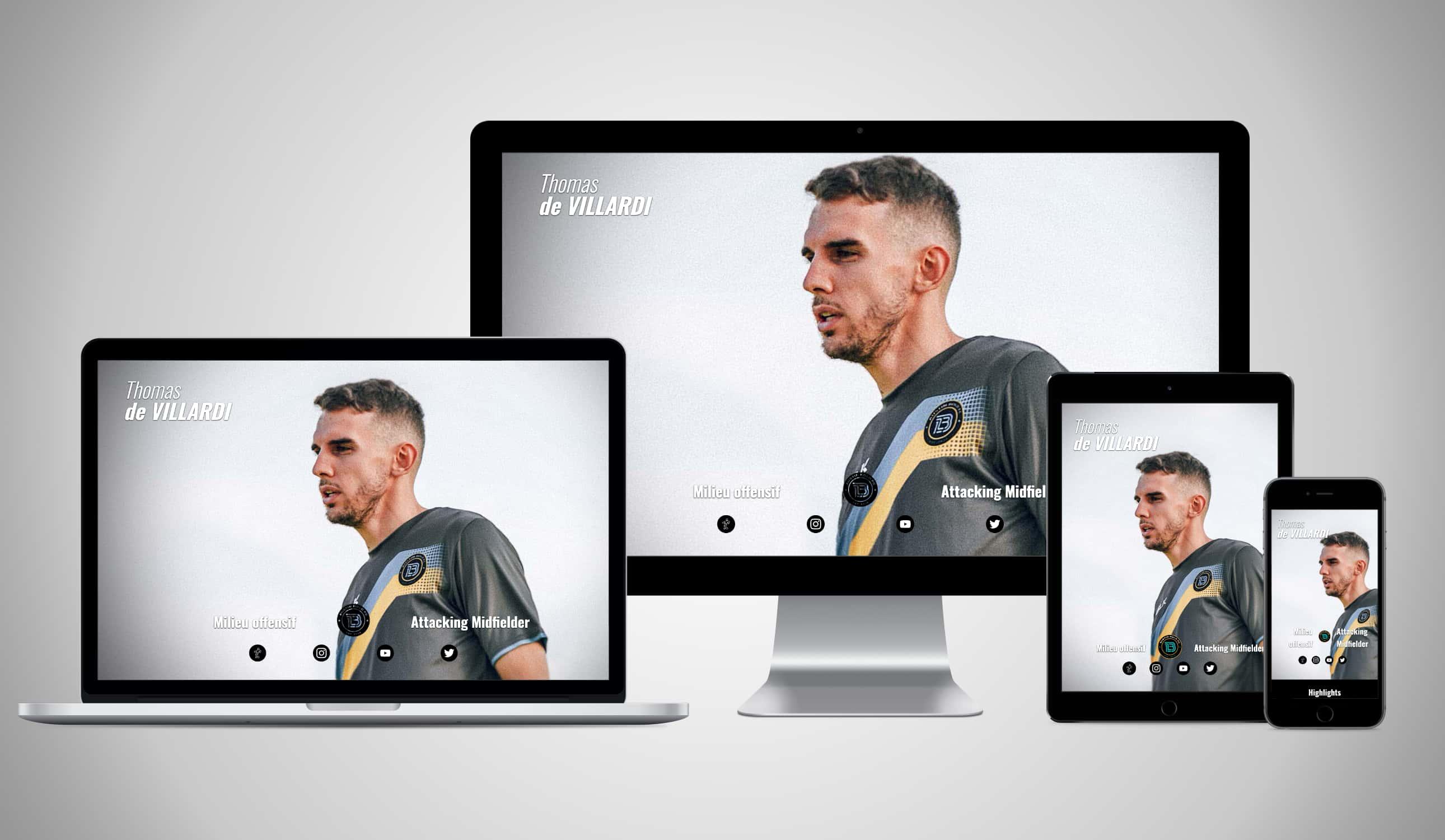 Captures du site Thomas deVillardi sur différents écrans