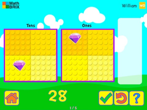 MiniComputer: Represent numbers up to 100 (Dragging) Math Game
