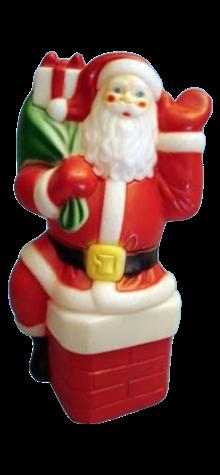 Santa On The Chimney photo