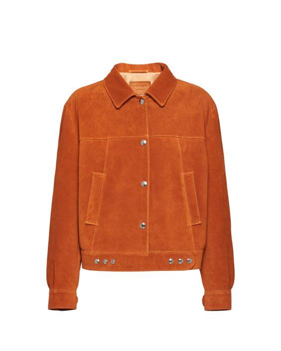 Veste Prada orange à boutons pressions