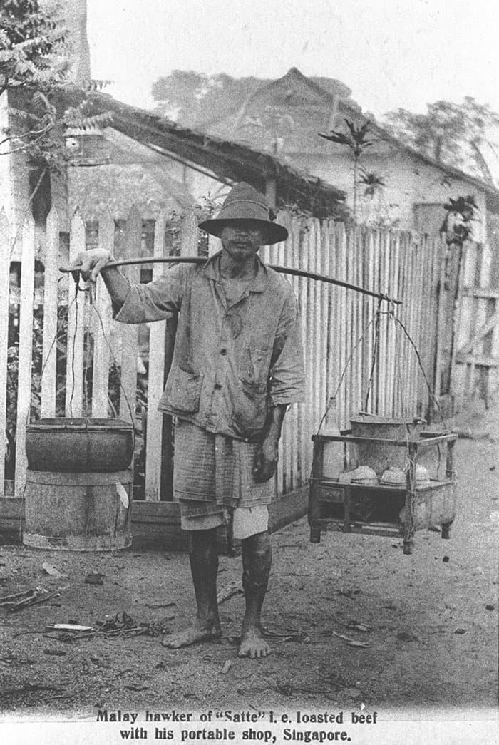 Satay hawker, 1900s