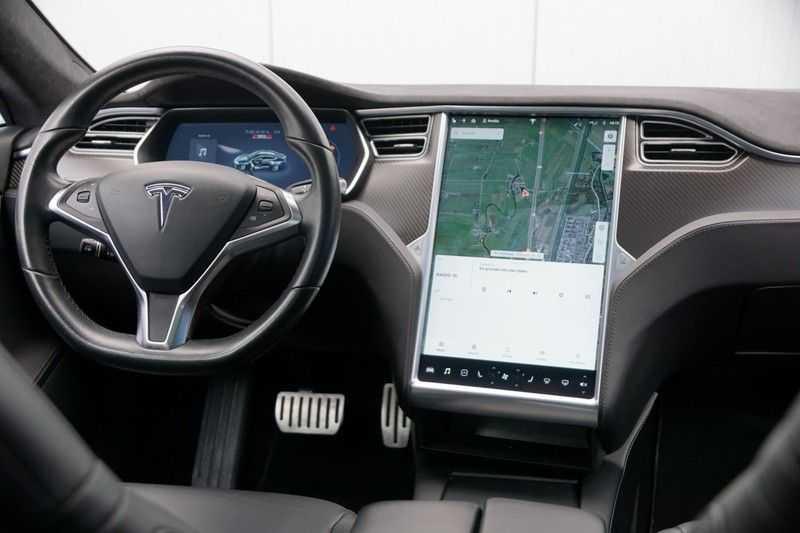 Tesla Model S P90D Performance Ludicrous 576pk / Autopilot / Pano / 21inch / Carbon / 162.500,- Nieuw afbeelding 12