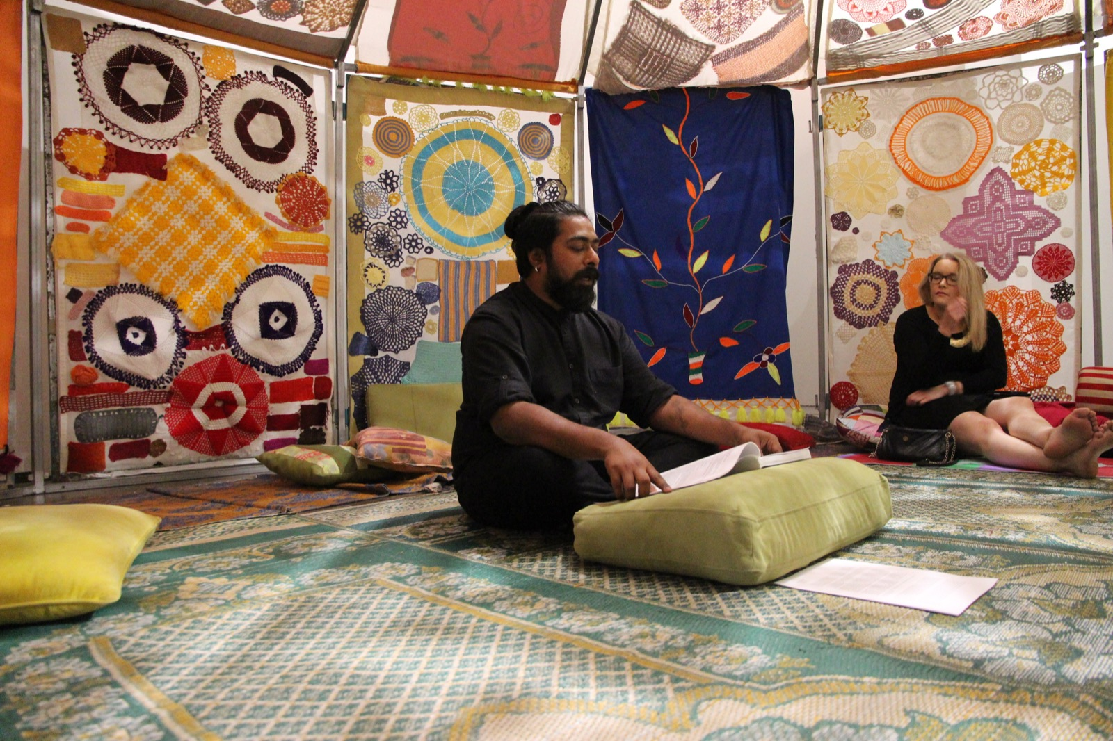 performance view, Kaapelitehdas, helsinki, photo by Vidha Saumya