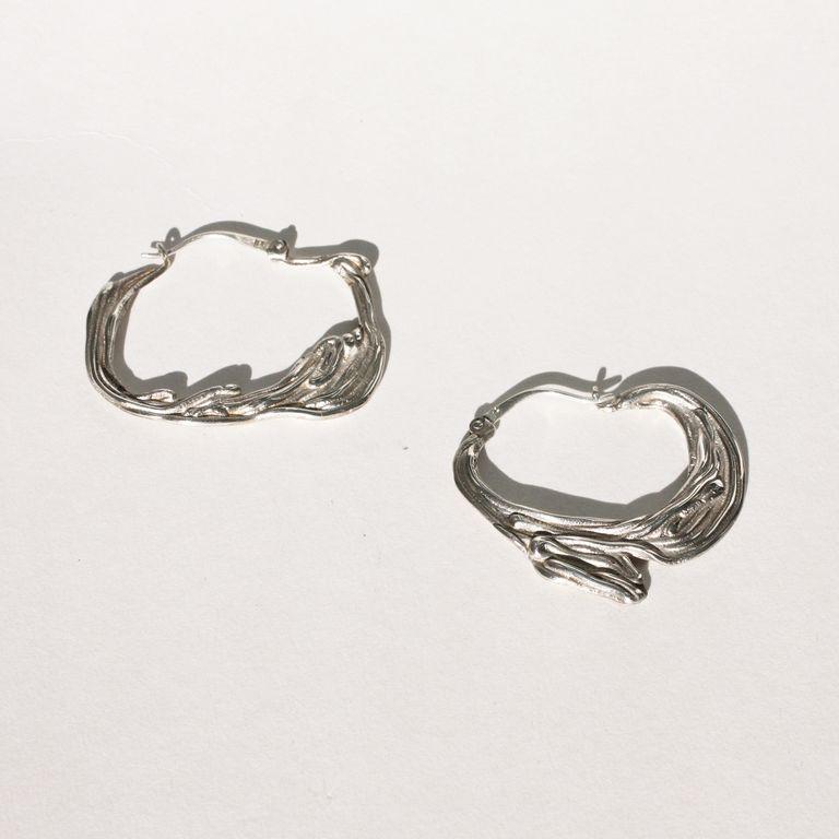 Silver sea hoops