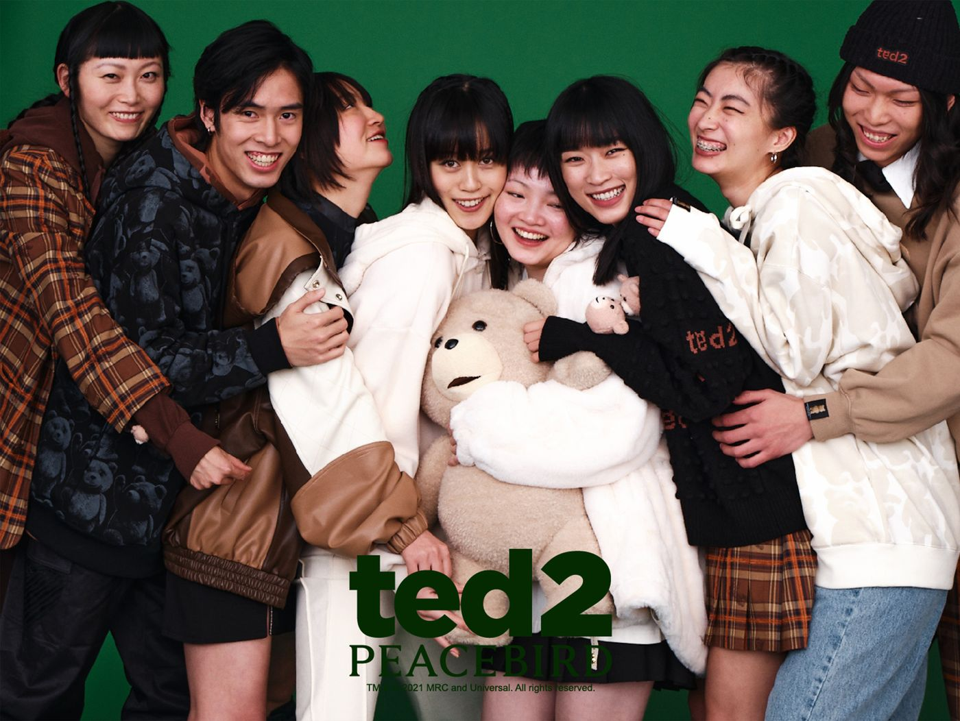 Ted 2 x Peacebird apparel collection