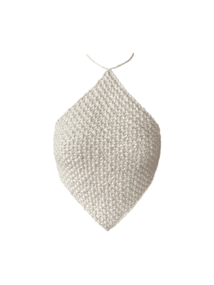 Knitted Halterneck Top, White