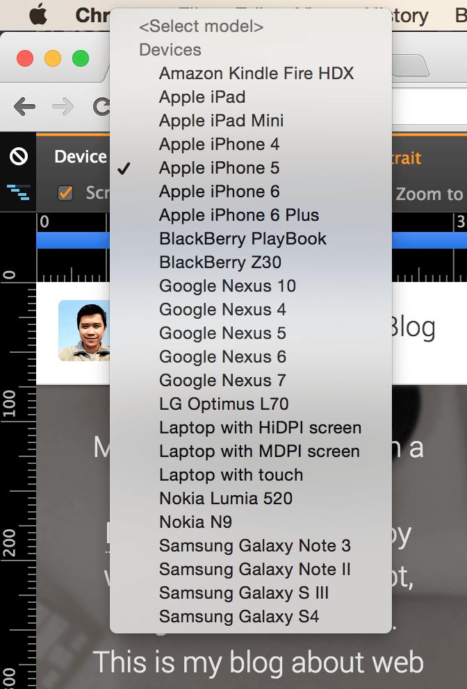 device presets