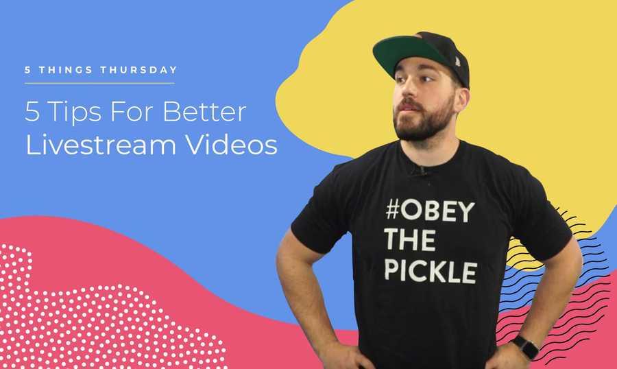 5 Tips for Better Livestream Videos