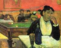 'Night Café at Arles (Mme Ginoux)' by Gauguin in 1888