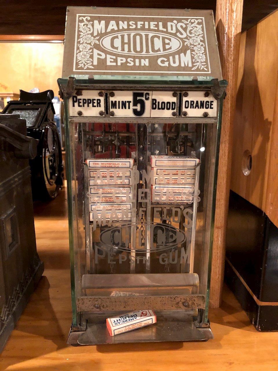 Mansfield Choice Pepsin Gum Vendor