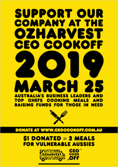 CEO Cookoff with OzHarvest poster