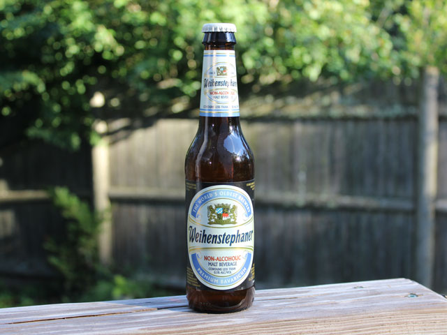 A non-alcoholic beer wheat beer brewed by Weihenstephaner Brewery