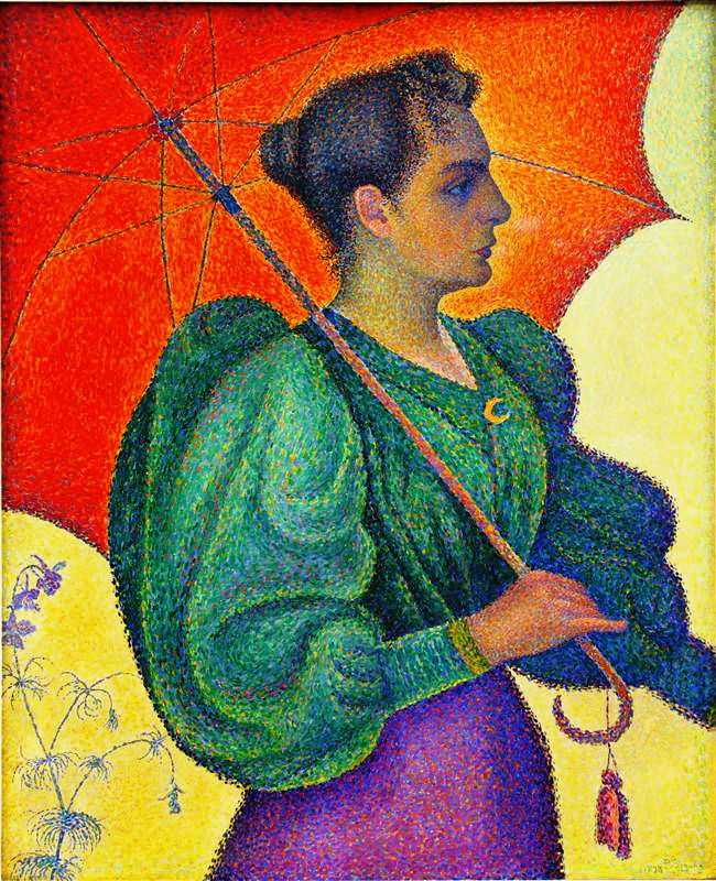 'Woman with a Parasol' by Signac in 1893