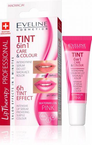 EVELINE LIP THERAPY 6IN1 CARE&COLOUR ajakszínező és kondicionáló pink 12 ml
