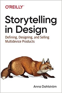 The cover of Anna Dahlström's book, Storytelling in Design
