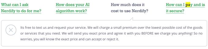 gonerdify.com pricing isn't clear