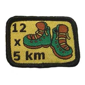 12 x 5km spejdermærke