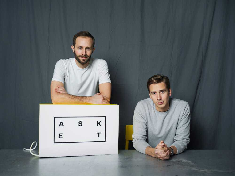 Asket founders August and Jakob