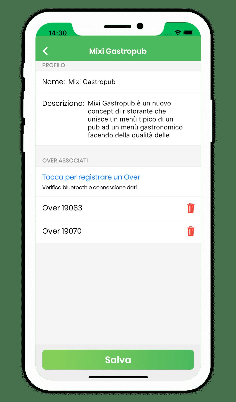 Configurazione profilo