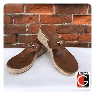 Michael Kors Tilly Wedge Leather Sandal