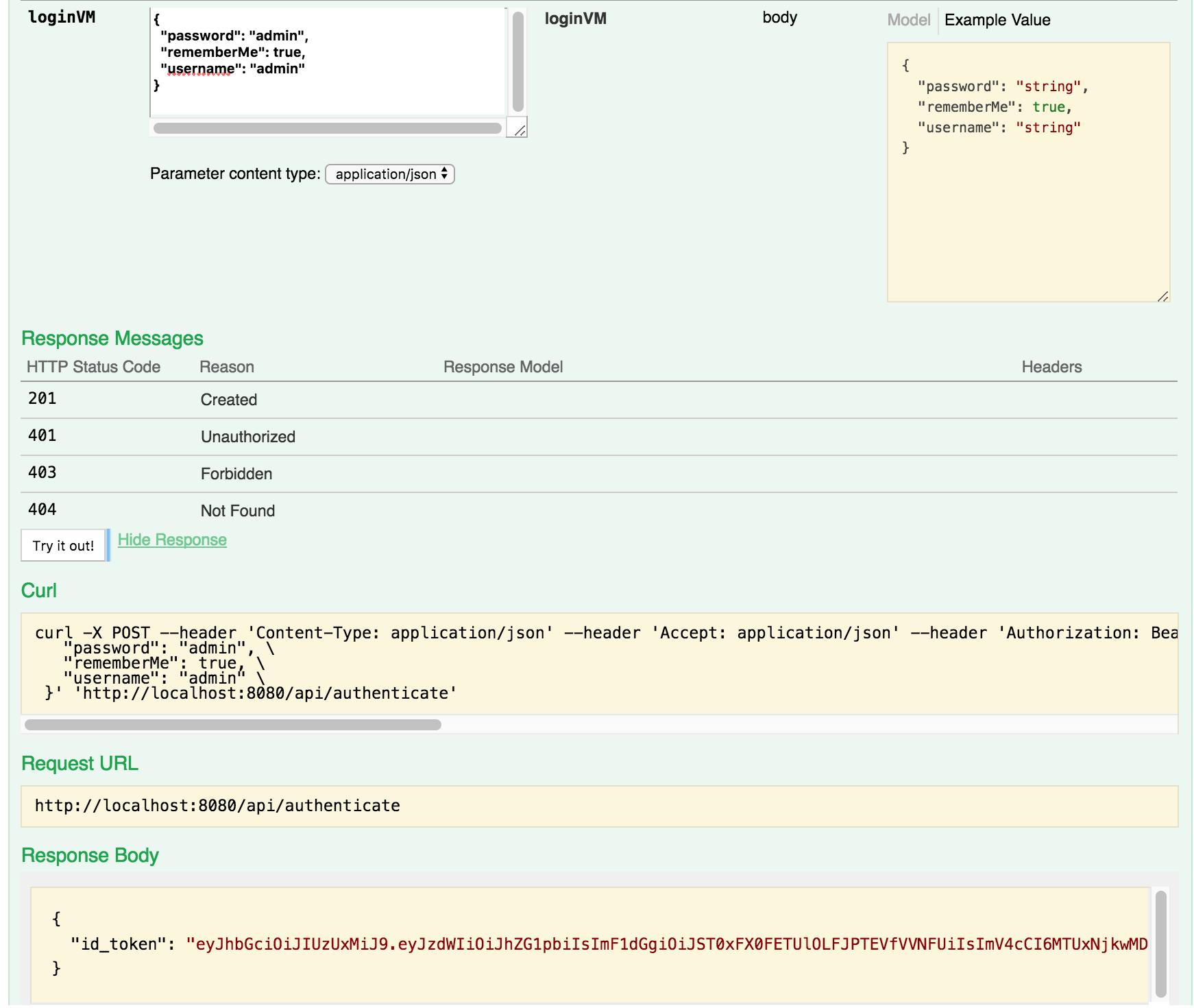 Тестирование JWT авторизации JHipster