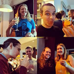 People enjoying our AI cocktails