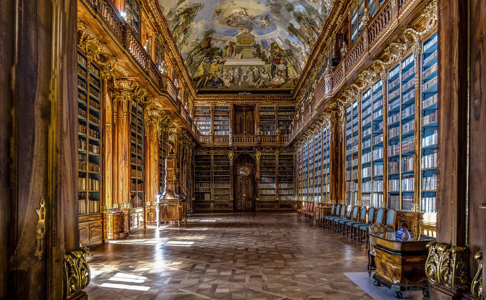 the philosophical hall of the strahov monastery library