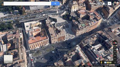Visualizzazione 3D di Roma