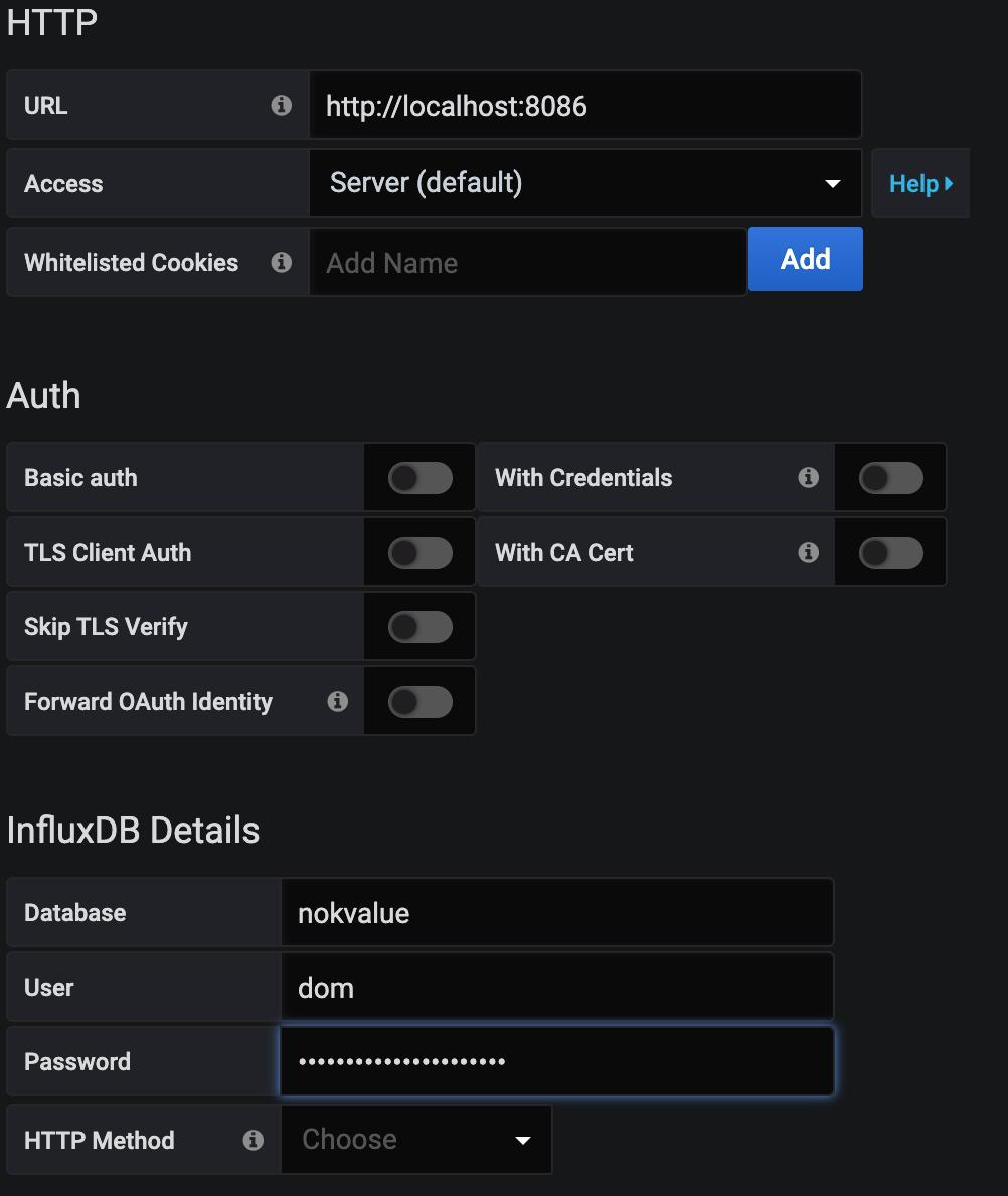 Grafana Database Setup