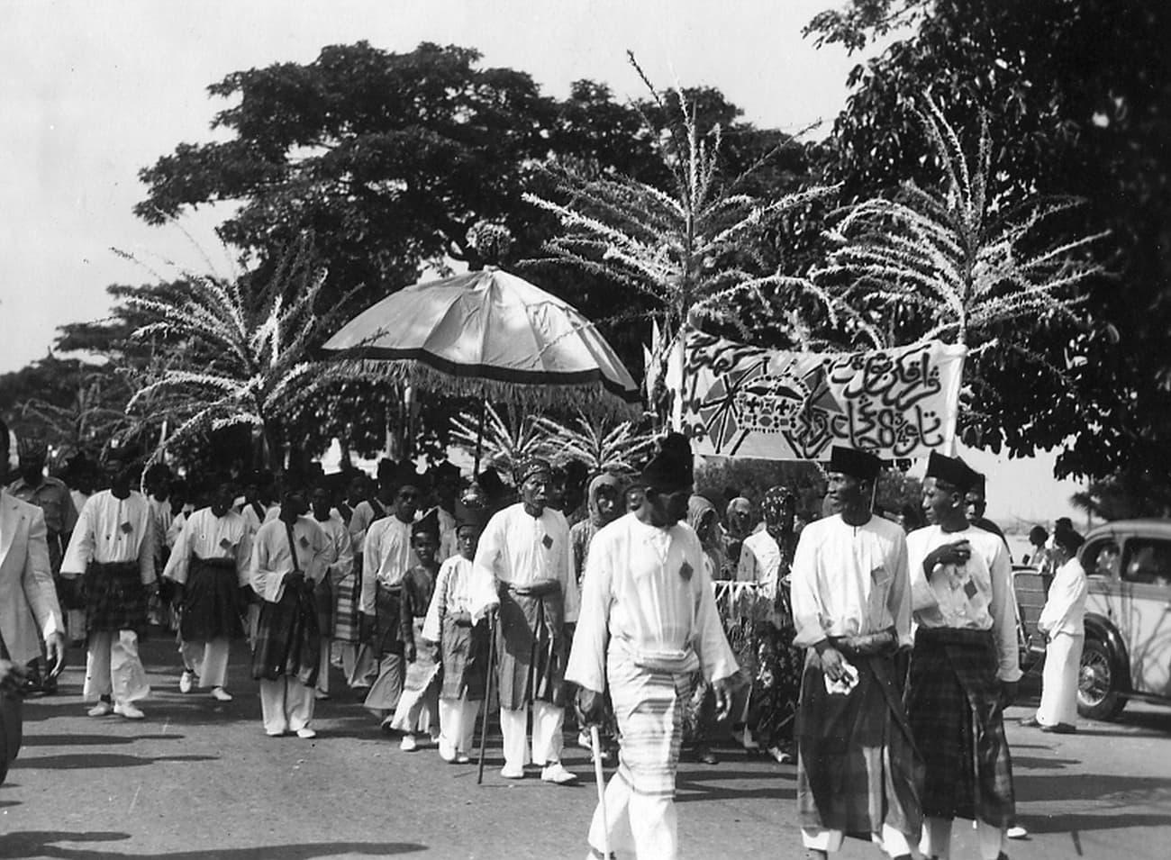马来族的迎娶阵容,1930年代