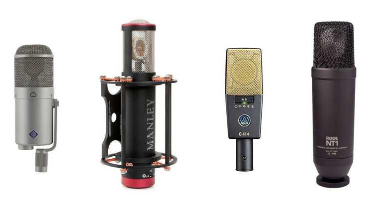Pics of 4 different large diaphragm condenser mics