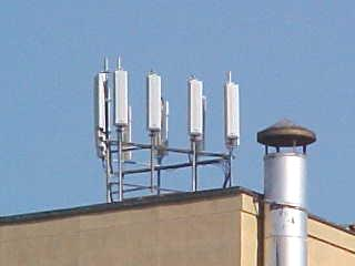 Rooftop Cellular Antennas, common in cities everywhere