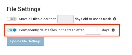 File Delete Settings