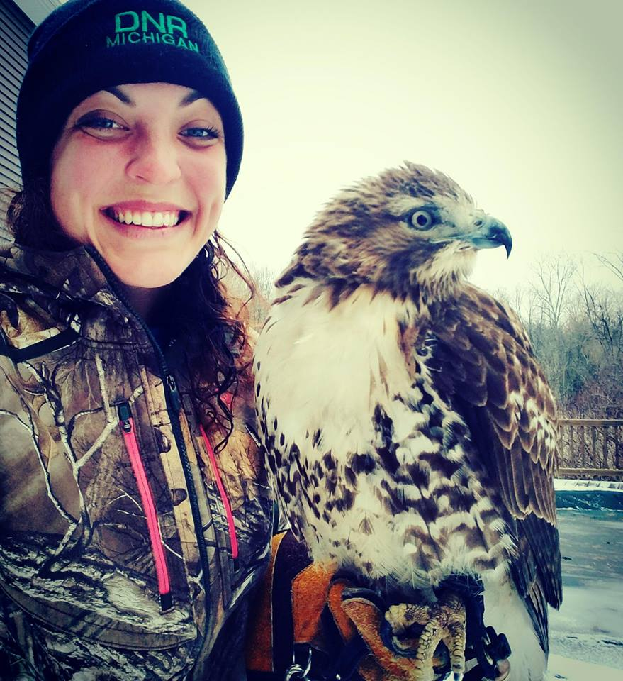 Sarah and her Hawk