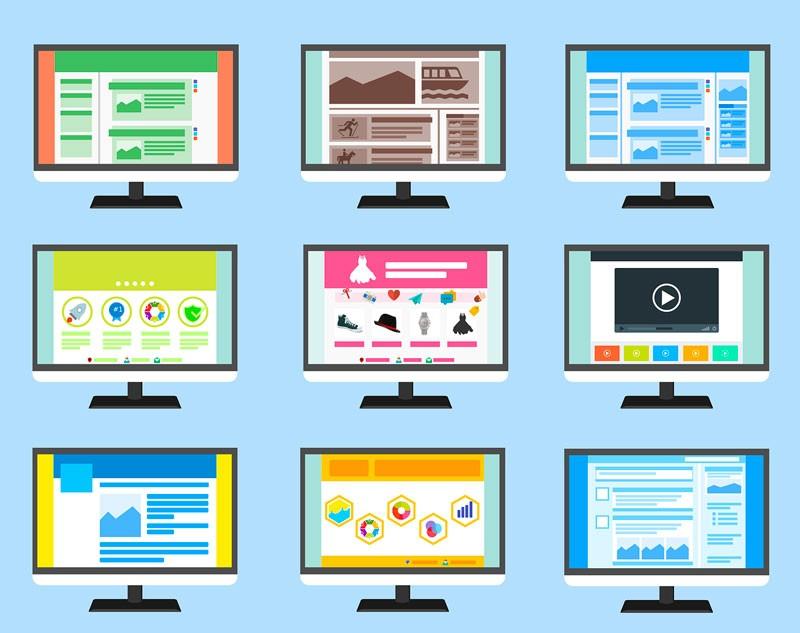 Différents types de sites internet