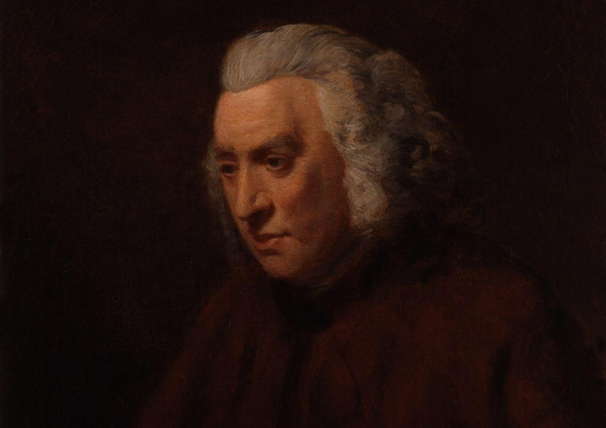 A portrait of Dr Samuel Johnson