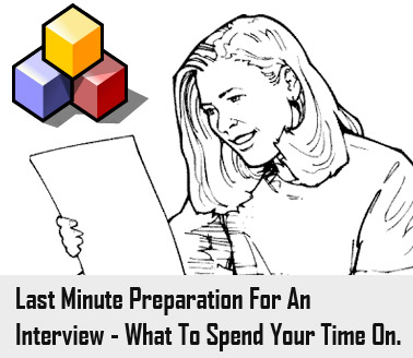 Last minute interview preparation image.