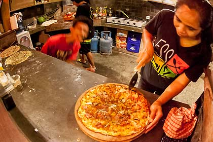 At ESS Bali We make wood fired pizzas and have skate parties every Friday night!