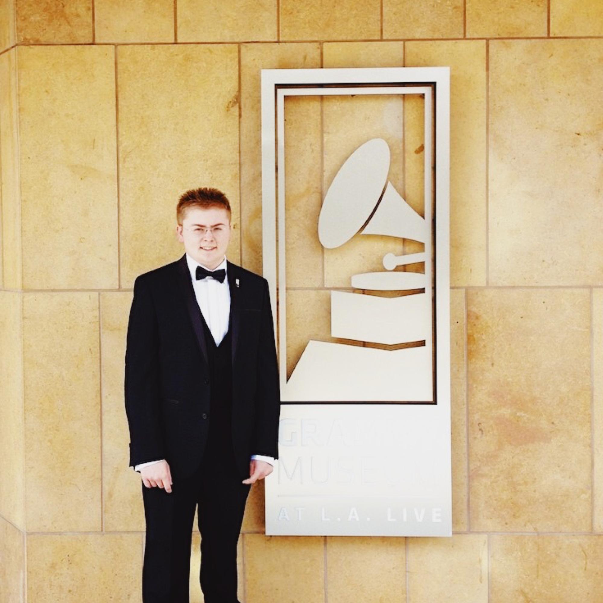 Jack Watkins at the Grammy Awards in Los Angeles