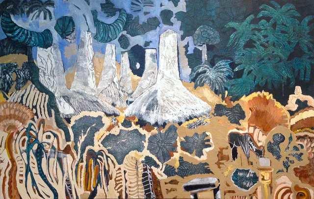 My Sumba, acrylic collage on canvas