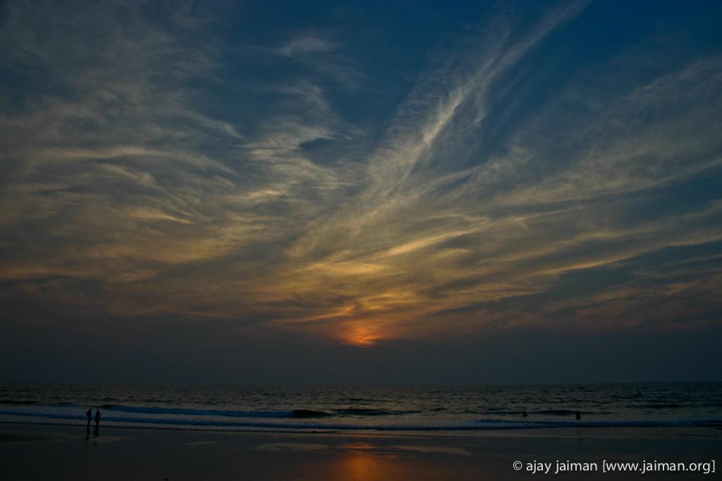 Sunset at Varca beach, Goa, India