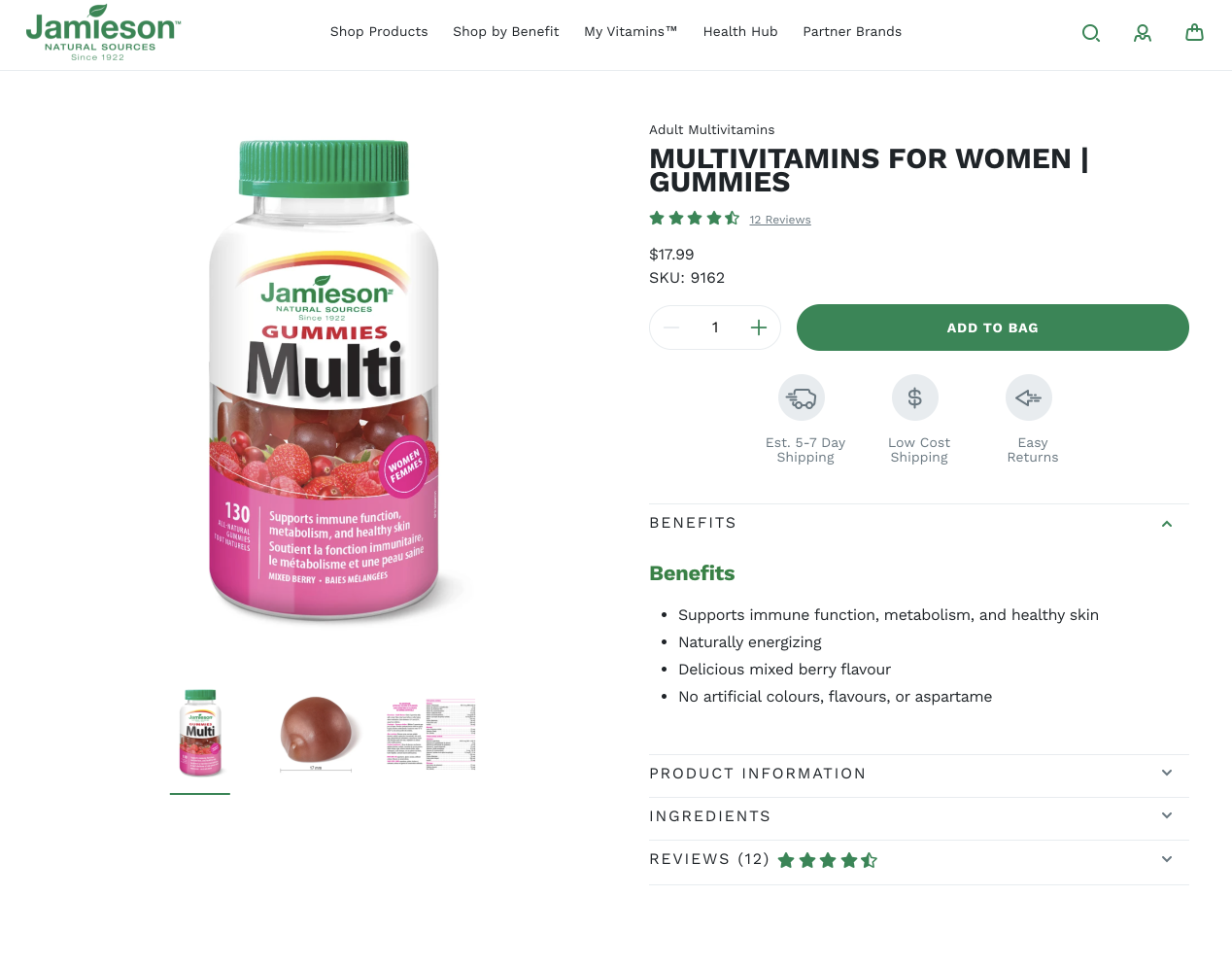Multivitamins for women with ingredients list and reviews.