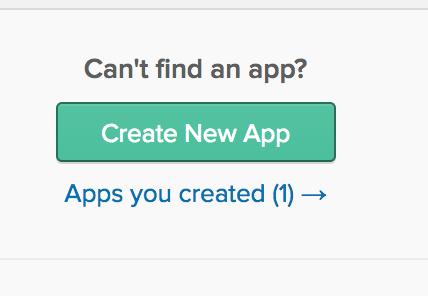 Create Application Button