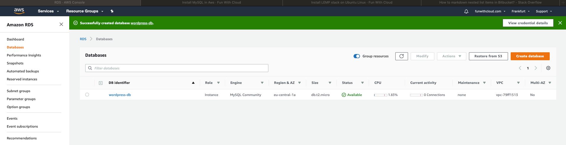 Install MySQL Database in AWS 8