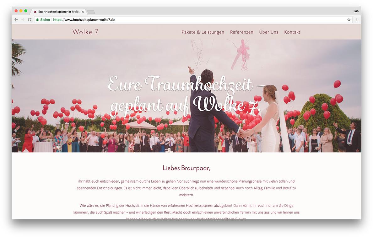 KreativBomber Onlineagentur Freiburg - Hochzeitsplaner Wolke 7 Freiburg Start