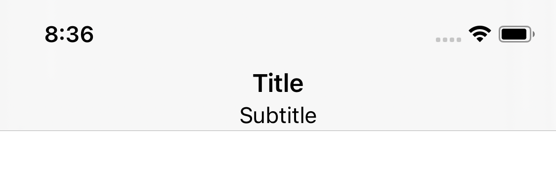 Custom title view in SwiftUI