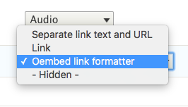 Oembed Link Formatter