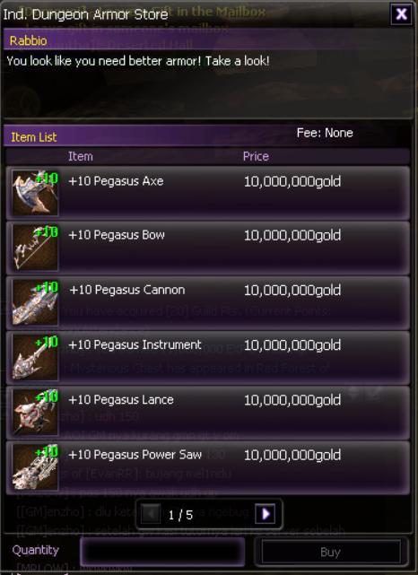 Pegasus Weapon +10